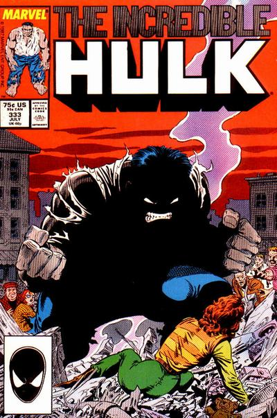Capa de The Incredible Hulk 331, a escolhida para ilustrar o encadernado nacional