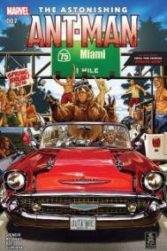 Capa de Mike Brooks para Homem-Formiga que, agora, vive em Miami