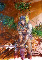 O guerreiro cimério no lápis e na cor de Barry Windsor-Smith