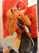 Um casal que no Universo Marvel não aconteceu, na arte de Stephanie Hans